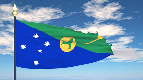 Flag Of Christmas Island Animation