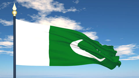 Flag Of Pakistan Stock Video Footage