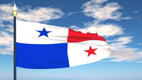 Flag Of Panama Stock Video Footage