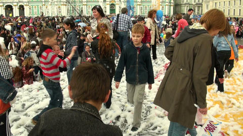 Foam, the scene, the audience Stock Video Footage