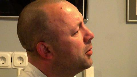 Bald man Stock Video Footage