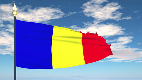Flag Of Romania Animation