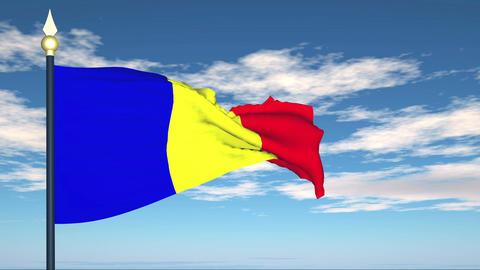 Flag Of Romania Stock Video Footage