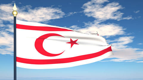 Flag Of Northern Cyprus Animation