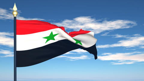 Flag Of Syria Stock Video Footage