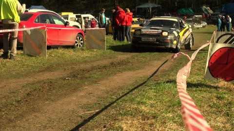 Start of the rally Stock Video Footage