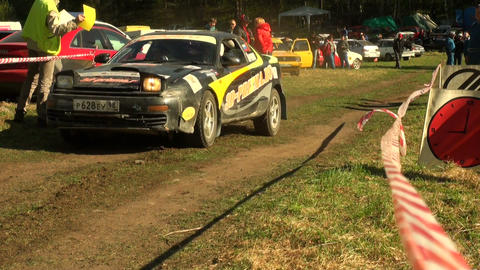 Start Of The Rally stock footage