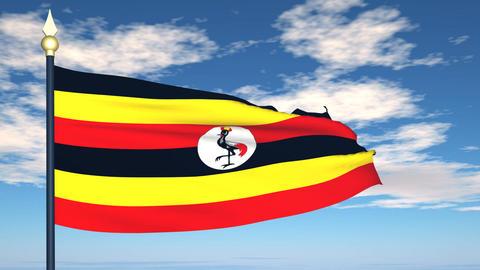 Flag Of Uganda Animation