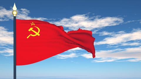Flag Of USSR Stock Video Footage