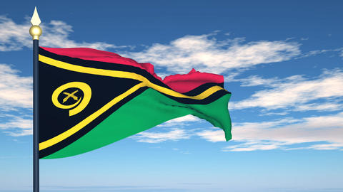 Flag Of Vanuatu Stock Video Footage
