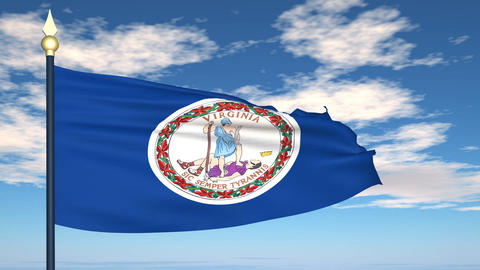 Flag of the state of Virginia USA Animation