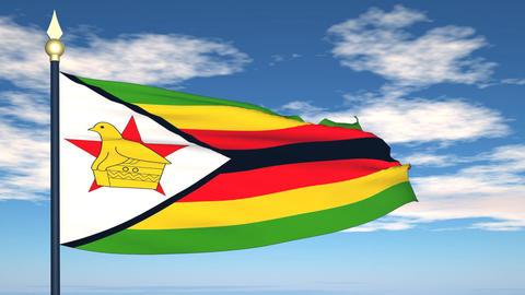 Flag Of Zimbabwe Animation