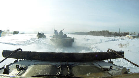 APC convoy Footage