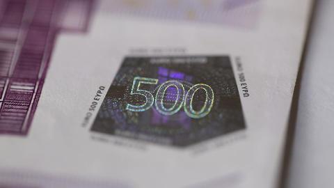 500 euro money Stock Video Footage