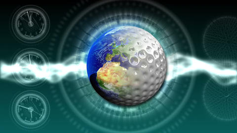 Golf World Background 45 (HD) CG動画素材