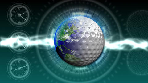 Golf World Background 45 (HD) Stock Video Footage