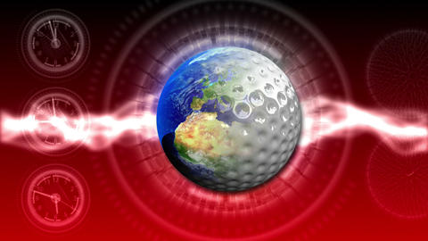 Golf World Background 47 (HD) CG動画素材