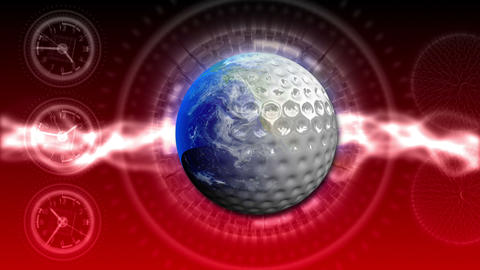 Golf World Background 47 (HD) Stock Video Footage