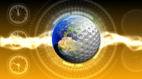 Golf World Background 49 (HD) CG動画素材