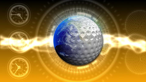 Golf World Background 49 (HD) Stock Video Footage