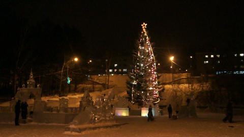 Divnogorsk Christmas Tree 01 Stock Video Footage