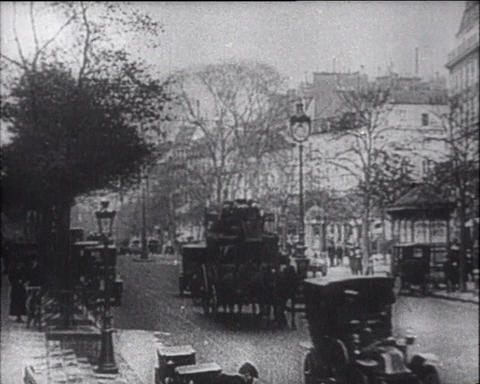Chronicle of the first cars Stock Video Footage