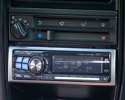 Audio training car Stock Video Footage