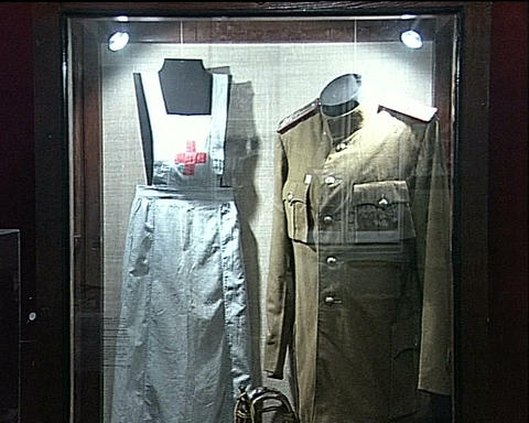 Personal belongings of the dead soldier Stock Video Footage