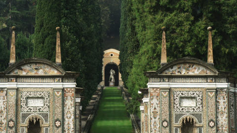 Garden entrance near Lake Como in Italy Live Action