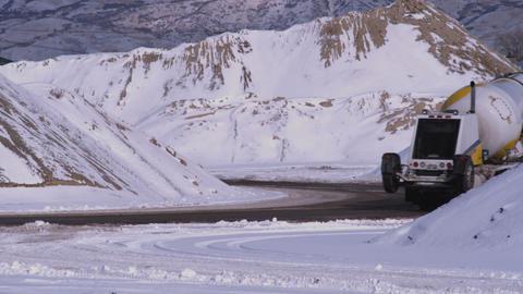 Snowy scenery in Utah Live Action