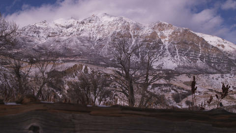 Time-lapse of a snowy landscape in Utah Live Action