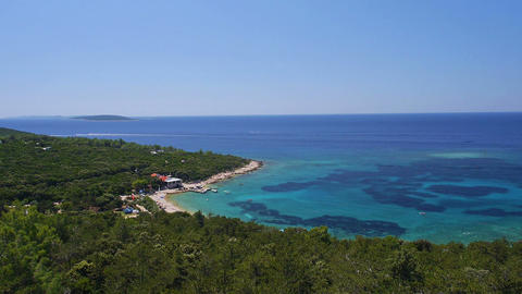 Aerial - Adriatic Bay With Clear Blue Water stock footage
