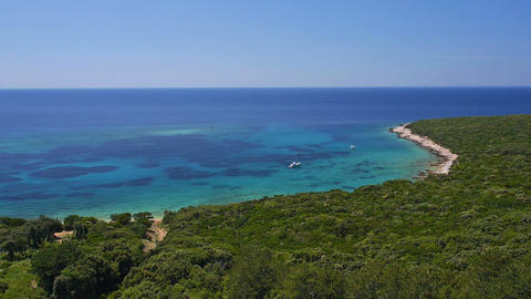 Aerial - Beautiful bay of Adriatic sea with turquoise water Footage