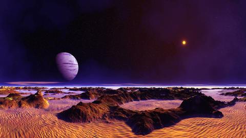 Blue Moon Over Desert Planet GIF