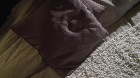 Beautiful girl in black underwear lies on the bed..Girl in erotic black Footage