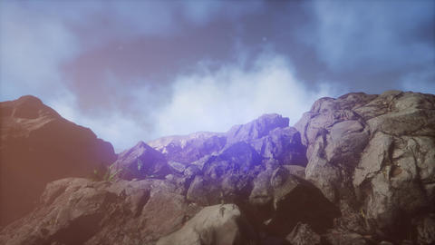mountain peak in the mist Footage