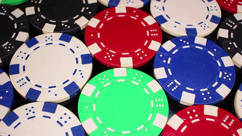 Poker coins token tokens money loseup texture pattern seamless looping rotating Live Action