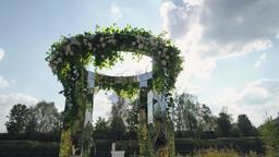 wedding outdoor ceremony ビデオ