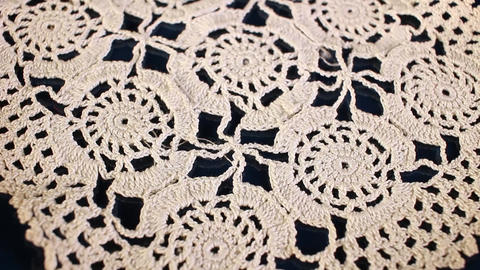 Crochet hand made cloth grandma's hobby Live Action