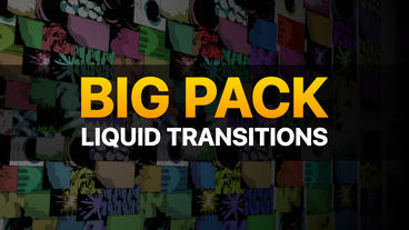 Liquid Transitions Big Pack After Effects Template