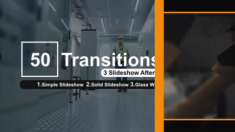 50 Transitions Pack -55 After Effects Template