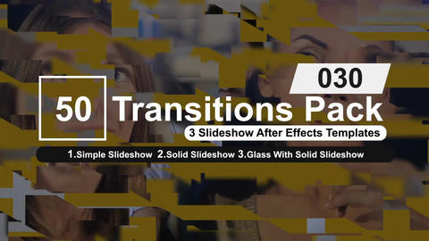 50 Transitions Pack -30 After Effects Template