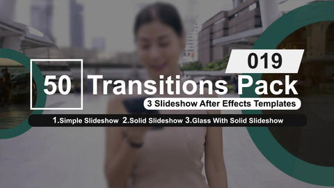50 Transitions Pack -19 After Effects Template