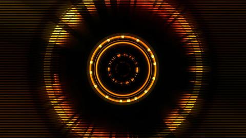 BG Tech Circle Red 01 Animation