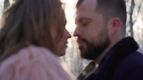 Close up of sensual young couple in love enjoying... Stock Video Footage