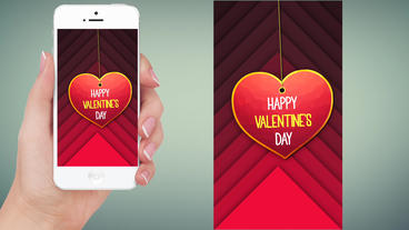 Instagram stories 5 - happy valentines day Apple Motionテンプレート