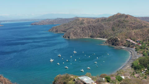 Aerial view of Playa Ocotal in Guanacaste Costa Rica Live Action