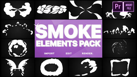 Smoke Elements Pack Motion Graphics Template