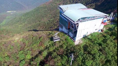 Aerial View of Duryunsan Cablecar, Haenam, Jeollanamdo, South Korea, Asia Footage