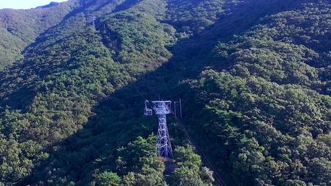 Aerial View of Duryunsan Cablecar, Haenam, Jeollanamdo, South Korea, Asia Live Action
